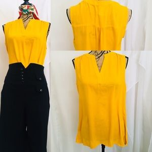 Chaus yellow blouse